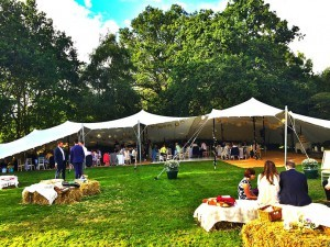 wedding stretch marquee hire