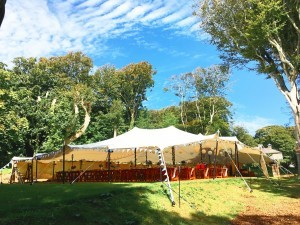 Large wedding stretch tent