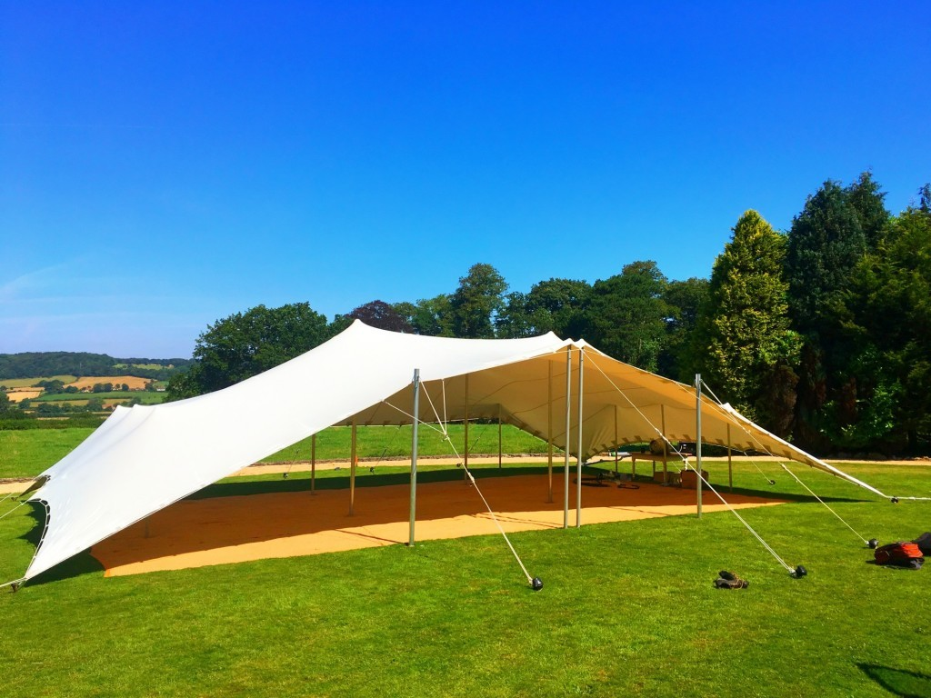 Strech tent Backwell House