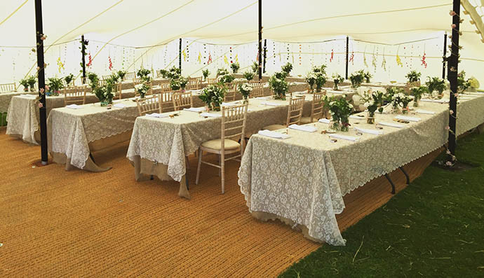 Wedding marquee alternatives
