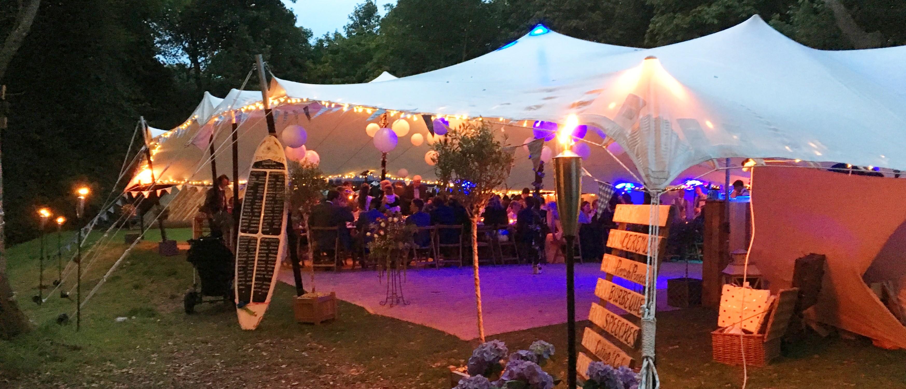 Stretch tent weddings
